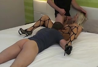 german skinny blonde milf anal threesome dp