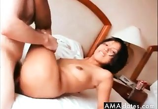Beutiful thai takes a big italian dick