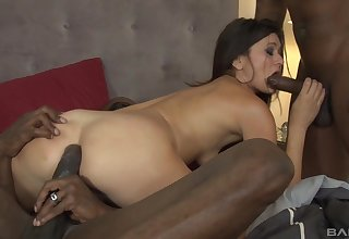 after relaxing bath Cece Stone enjoys hard triple with the brush lovers