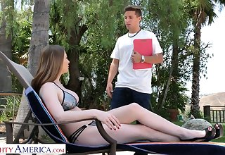 Super curvy sweetie Brianna Rose rides dick on the hang chair gone from