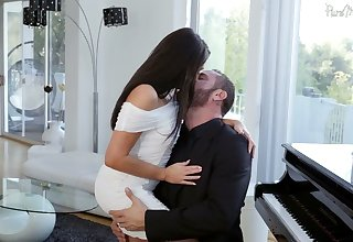 Captivating devilish Christiana Cinn is making love on every side Danny Slew
