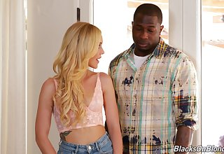 Kali Roses adores fat plus jet oversize penis with regard to her mouth plus cunt