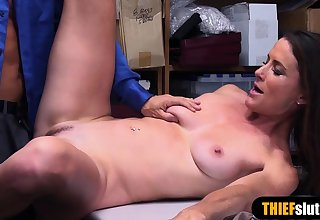 French of age shoplifter got caught and punish fucked