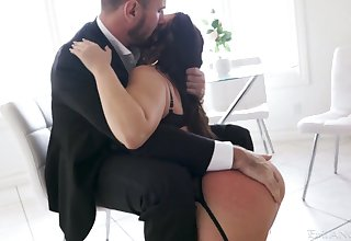 Inked PAWG Ivy Lebelle needs will not hear of lover's dick feel attracted to she needs a fresh quality