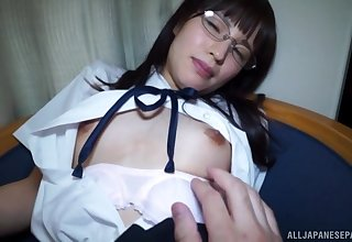 Uniformed Japanese Yahiro Mai wants to cheer her friend with hard sex